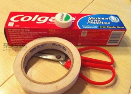 牙膏盒DIY小汽车1