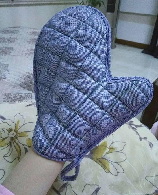 旧牛仔裤改造隔热手套