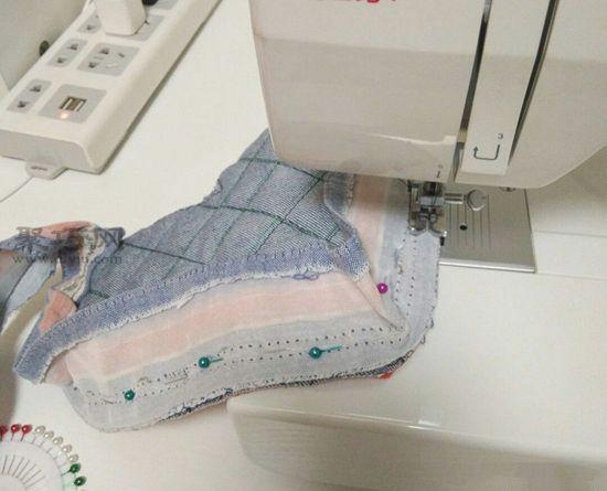 旧牛仔裤改造隔热手套 第10步
