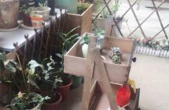 手工改造达人教你用废旧家具的抽屉DIY花架