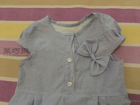 旧衬衫改女童裙子