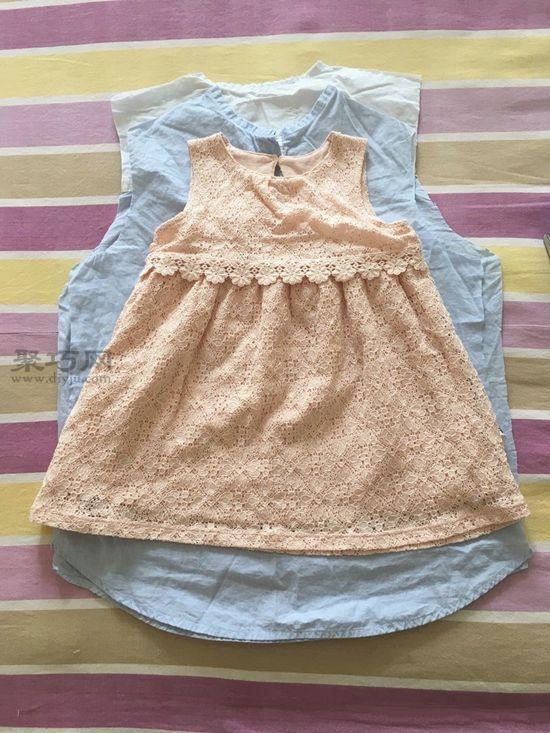 旧衬衫改女童裙子 第2步