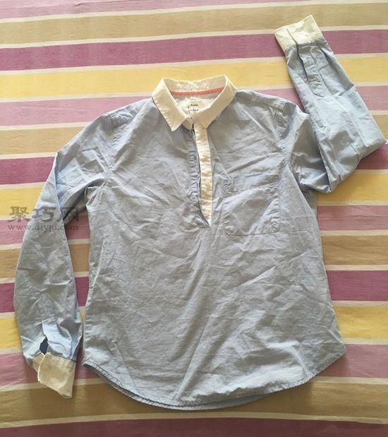 旧衬衫改女童裙子 第1步