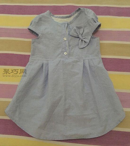 旧衬衫改女童裙子 第5步