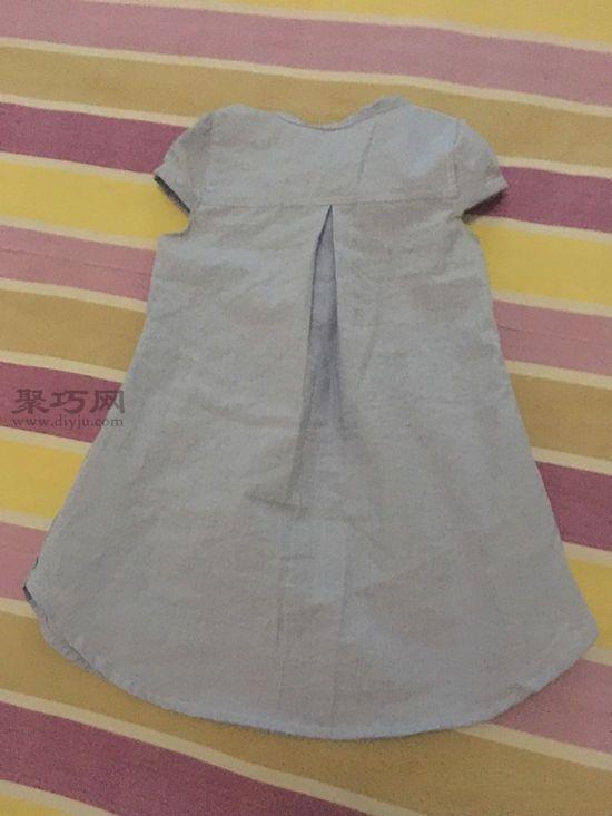 旧衬衫改女童裙子 第8步