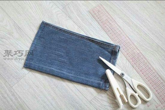 废牛仔裤做笔袋 第2步