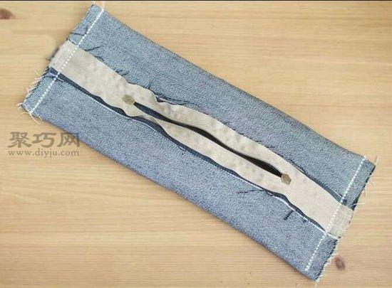 废牛仔裤做笔袋 第9步