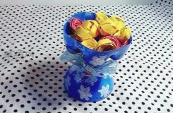 小小饮料瓶改造大用处 精美置物架改制教程