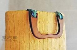 平针旧毛衣改造休闲型手提包包步骤详解