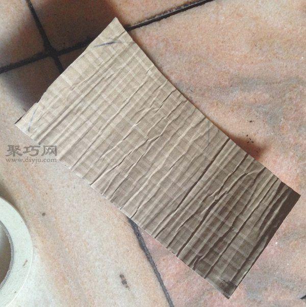 废纸盒和超轻粘土做的花艺摆件 第1步
