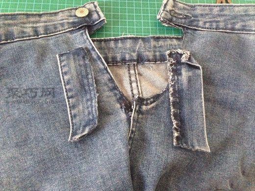 牛仔裤改包包 第2步