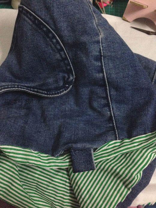 牛仔裤改包包 第15步