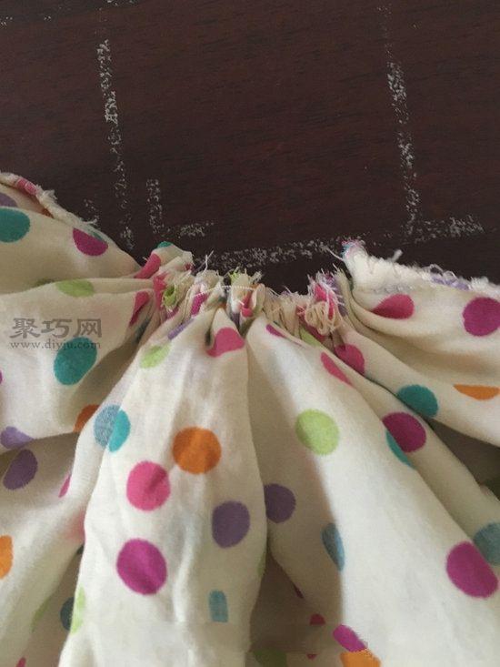 旧睡衣改造甜美靠垫 第3步