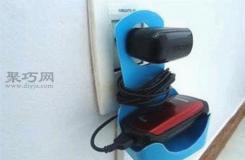 塑料瓶改造手机、刮胡刀等小电器充电收纳架