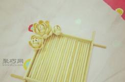 巧用废弃的一次性筷子和开心果壳DIY精致的小碟子