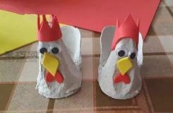 鸡蛋托和海绵纸DIY可爱的小鸡玩偶,超赞的手工制作教程!