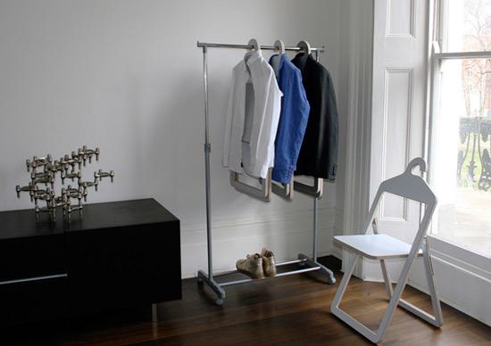 可做椅子的多功能衣架(图1)