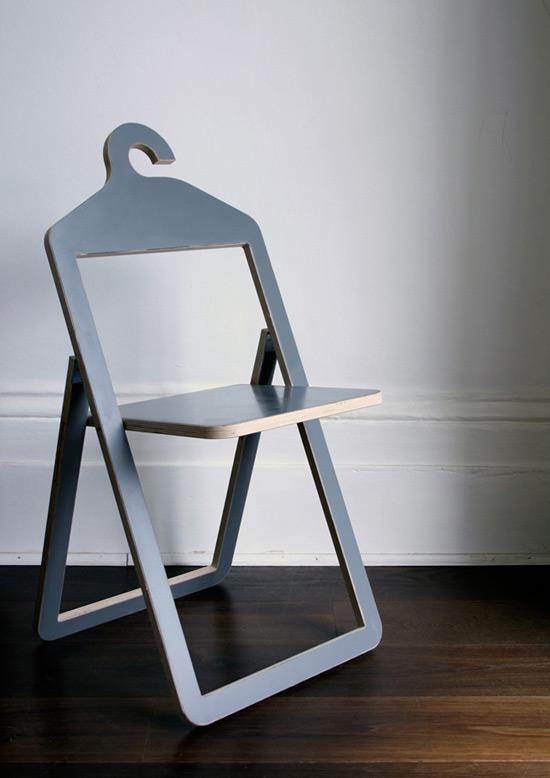 可做椅子的多功能衣架(图2)
