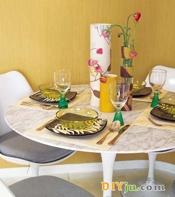 旧壁纸DIY花瓶、餐垫新年新衣