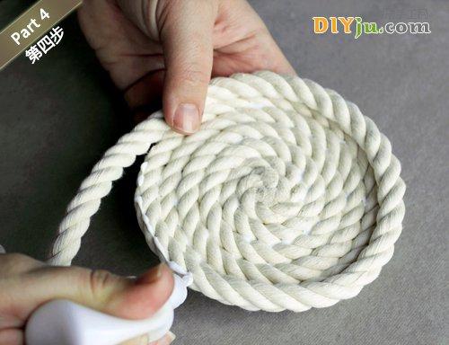 绳子DIY收纳盒 第四步