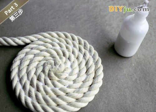绳子DIY收纳盒 第三步