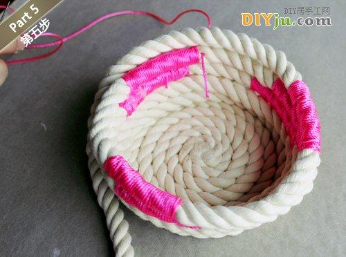 绳子DIY收纳盒 第五步
