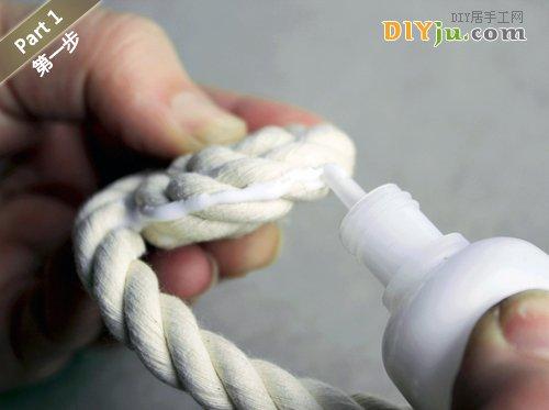 绳子DIY收纳盒 第一步