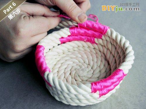 绳子DIY收纳盒 第六步