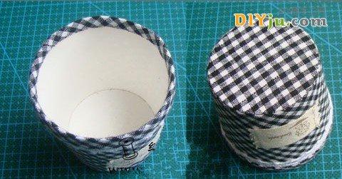一次性的纸杯变废为宝DIY纺织品花盆成