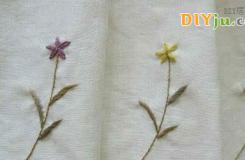 教你手工刺绣出爱的小雏菊