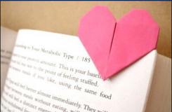 万能小爱心折纸教程:爱心书签的折纸方法