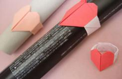 心型戒指的折纸方法:如何折出红心戒指