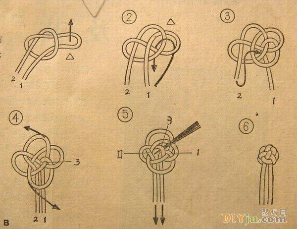 如何制作盘扣:三种古典旗袍盘扣的编法图解教程