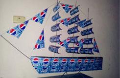 易拉罐变废为宝:易拉罐DIY手工制作大型帆船模型
