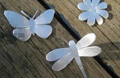 简单易拉罐手工制作教程 蝴蝶、蜻蜓、花、节日装饰