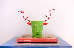 简单小学生纸杯手工制作 纸杯制作圣诞鹿