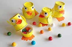 用一次性纸杯做动物 纸杯手工制作鸭子