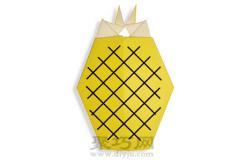 幼儿简单折纸菠萝手工教程
