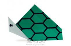 绿色的小乌龟折纸教程