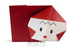 顽皮的红色小猴子折纸教程图解