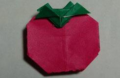 最简单的立体折纸西红柿 番茄折纸图解教程