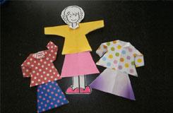 折纸娃娃教程:教你如何用纸折日本换装娃娃