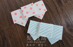 纸折蝴蝶结图解教程 可爱的蝴蝶结的折法