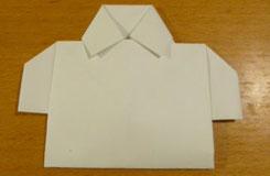衣服折纸之衬衫折法图解教程 如何diy带领纸衬衫