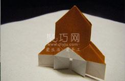 伊斯兰教教堂的折叠方法 折纸建筑图解