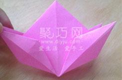 正方形纸手工折叠桃子 折纸立体寿桃图解教程
