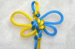 编织中国结步骤 宝结二宝3套结的编法图解教程
