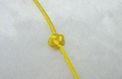 中国结单线纽扣结的打法图解教程 教你怎么用单线编纽扣