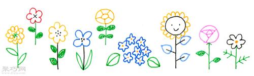 各种各样的花画法