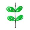 左右对称的叶子画法